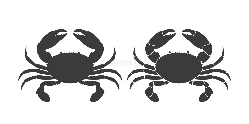 螃蟹商标 背景螃蟹查出的白色 皇族释放例证