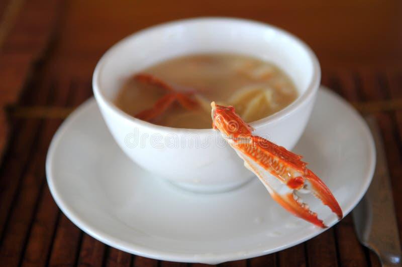 螃蟹汤 库存图片