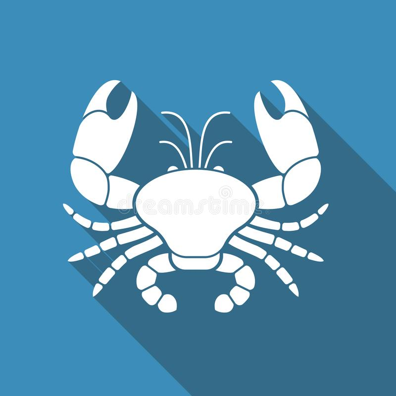 螃蟹的平的传染媒介象 皇族释放例证