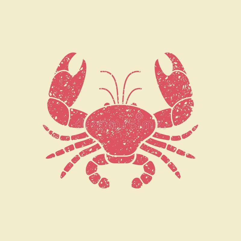螃蟹的平的传染媒介象 向量例证