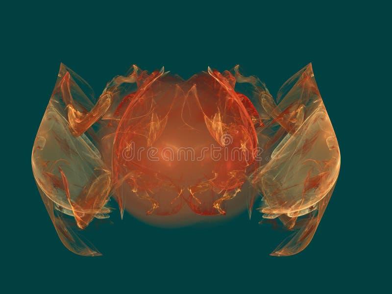 螃蟹盐水湖 与计算机引起的分数维的美好的抽象背景 库存图片