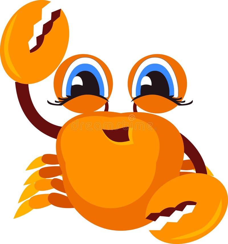 螃蟹象 动画片 向量例证
