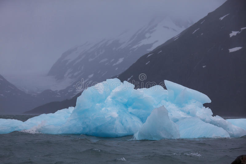 融化冰河在阿拉斯加 免版税库存照片