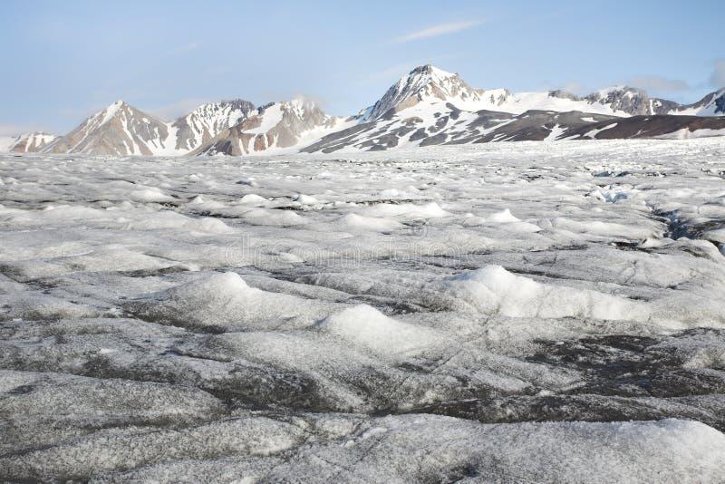 融化冰河-北极,斯瓦尔巴特群岛 库存图片