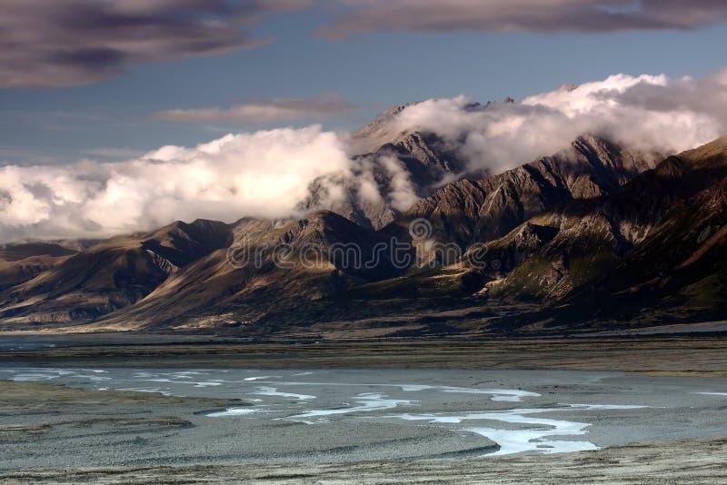融化冰河 库存照片