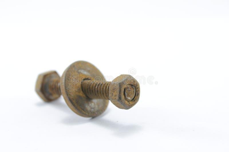 螺丝、坚果、螺栓和钉子 图库摄影