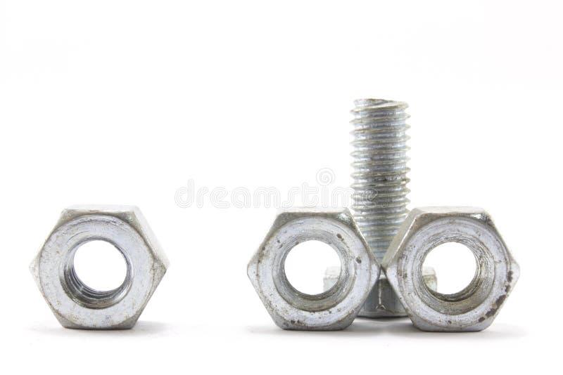 螺丝、坚果、螺栓和钉子 库存照片