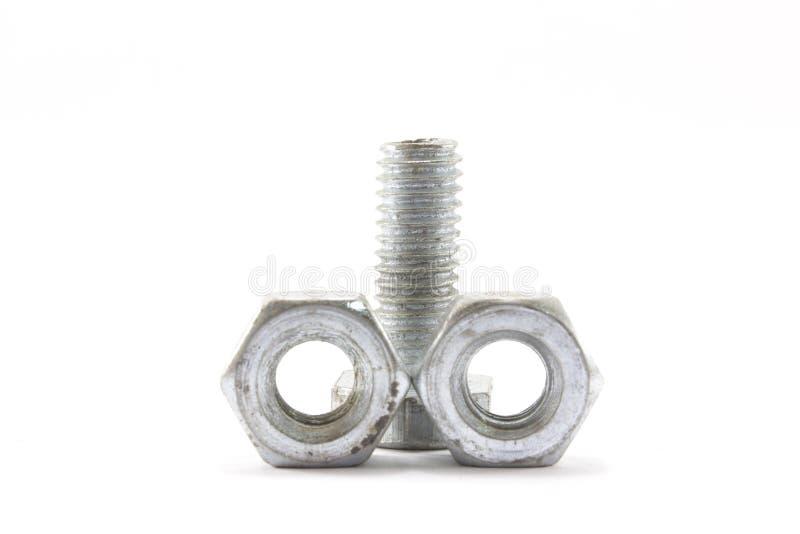 螺丝、坚果、螺栓和钉子 免版税库存图片
