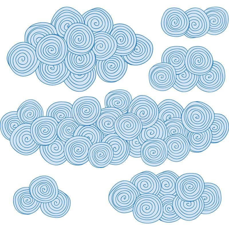 螺旋云彩,圈子设计要素 库存例证