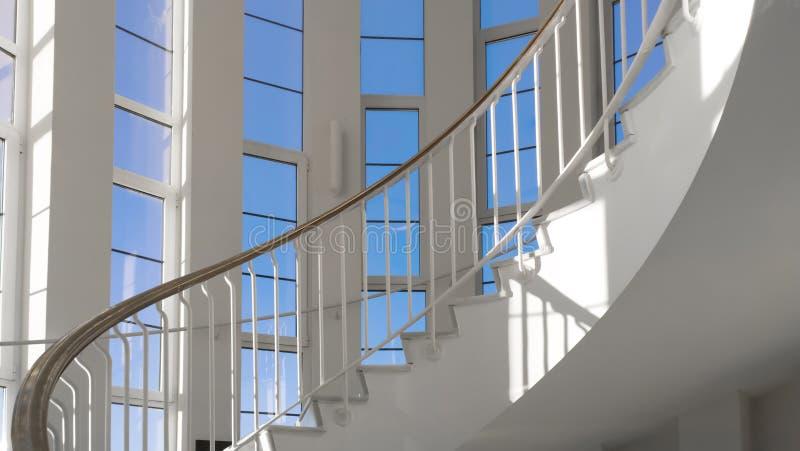 螺旋台阶 前面观点 库存照片