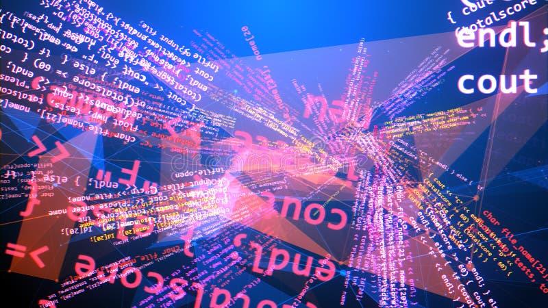 螺旋和多彩多姿的编制程序节目 库存例证