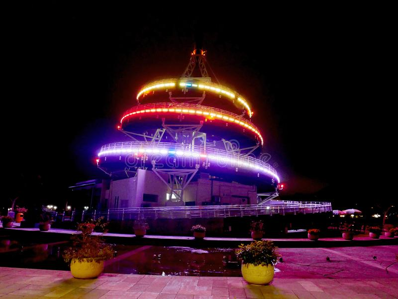 螺旋塔在大埔海滨公园在香港 库存图片