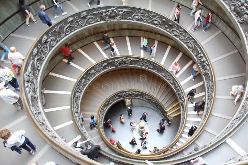 螺旋形楼梯梵蒂冈 免版税库存图片