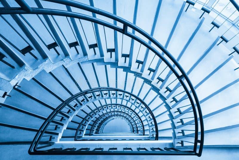 螺旋形楼梯特写镜头 库存照片