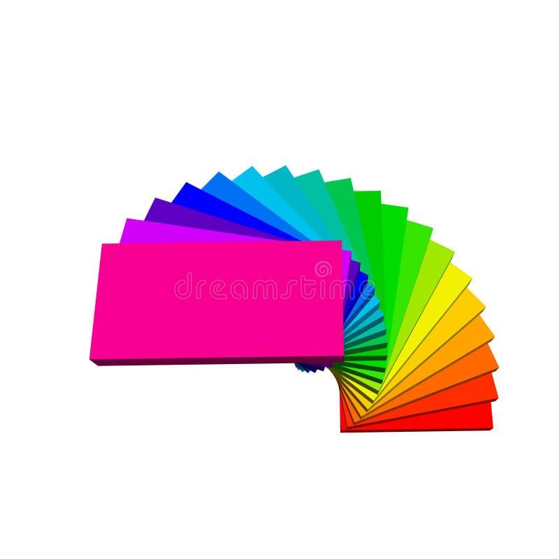 螺旋形楼梯 背景查出的白色 3d传染媒介colorfu 向量例证