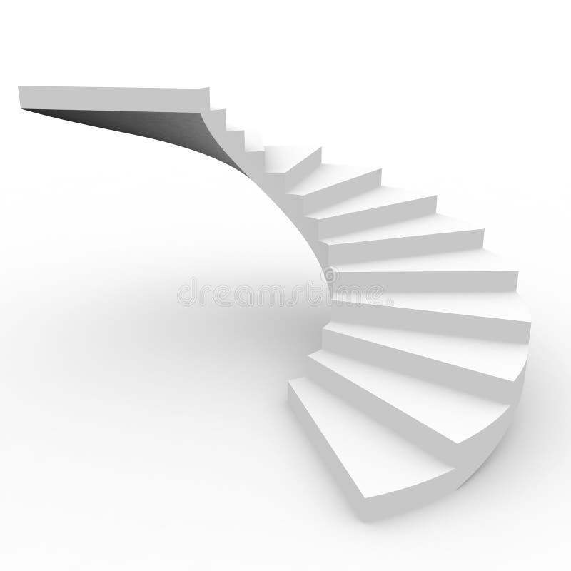 螺旋形楼梯 库存例证