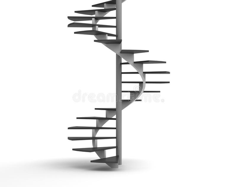 螺旋形楼梯 向量例证