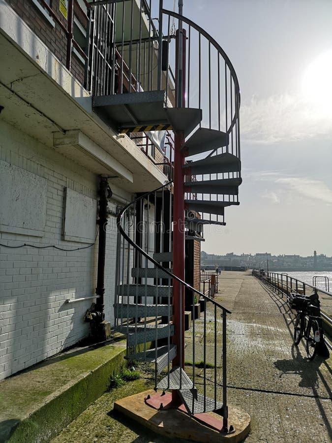 螺旋形楼梯Gorleston 免版税库存照片