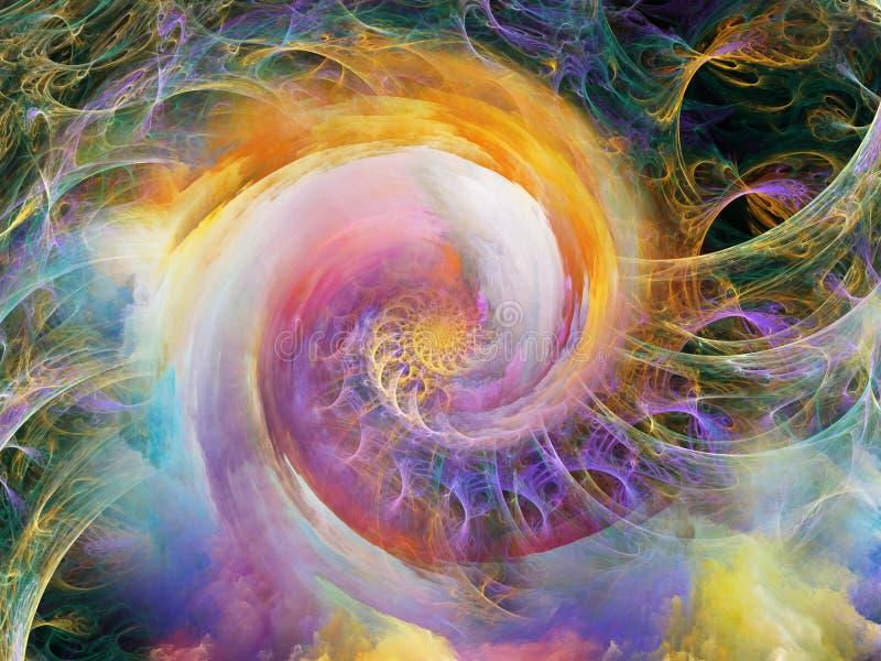 螺旋抽象 库存例证