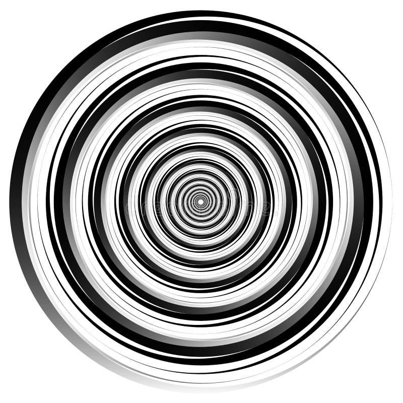 螺旋摘要元素 转动,漩涡图表 同心 库存例证
