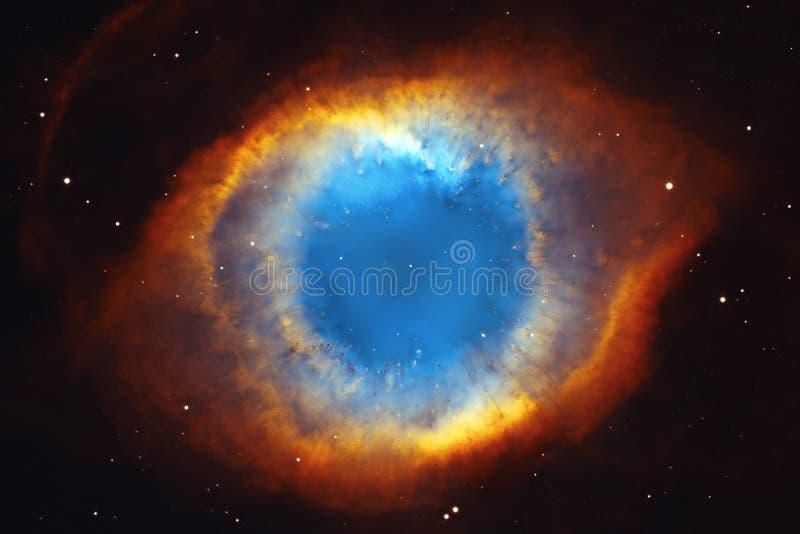 螺旋星云或NGC 7293在星座宝瓶星座 库存图片