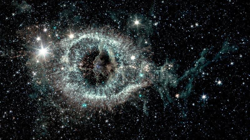 螺旋星云 库存图片