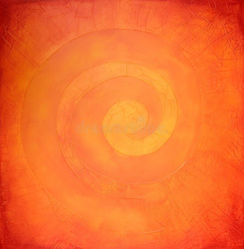 螺旋的颜色绘温暖 皇族释放例证