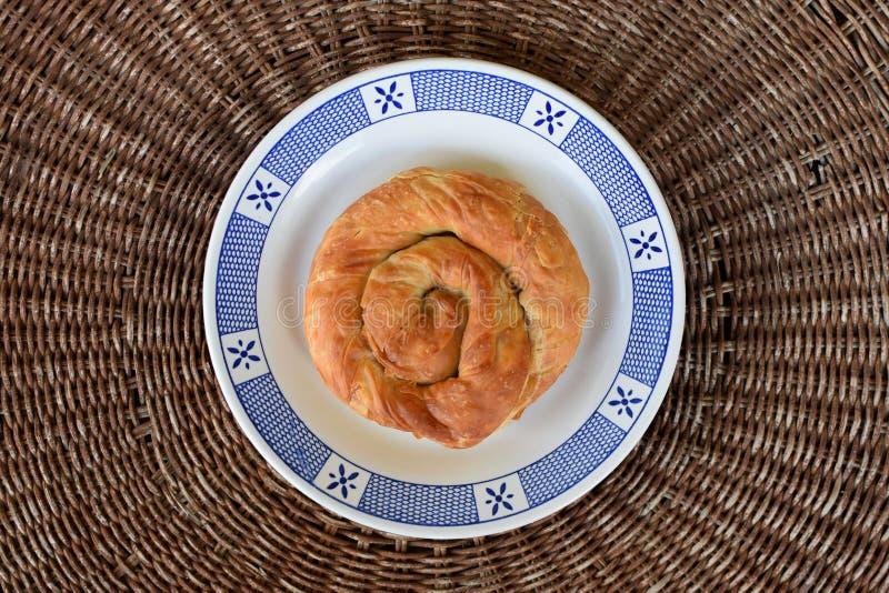 螺旋饼希腊人食物 免版税库存图片