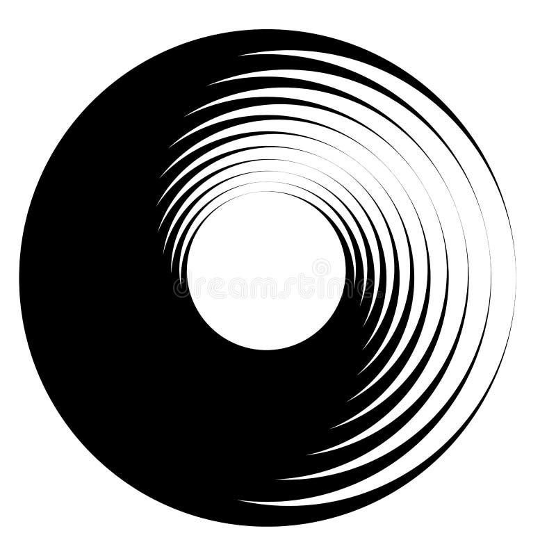 螺旋,漩涡元素 漩涡,在白色的转动形状 皇族释放例证