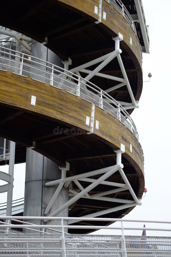 螺旋建筑结构 免版税库存图片