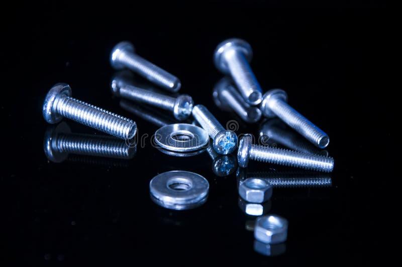 螺栓和螺丝 图库摄影