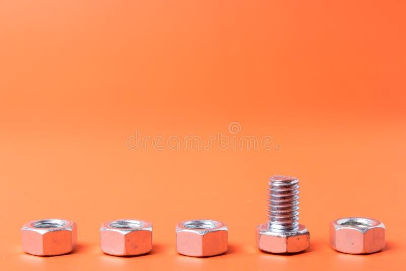 螺栓和螺母 免版税库存图片