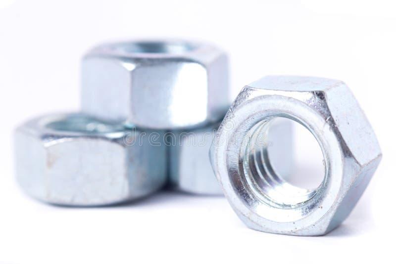 螺栓和螺母 图库摄影