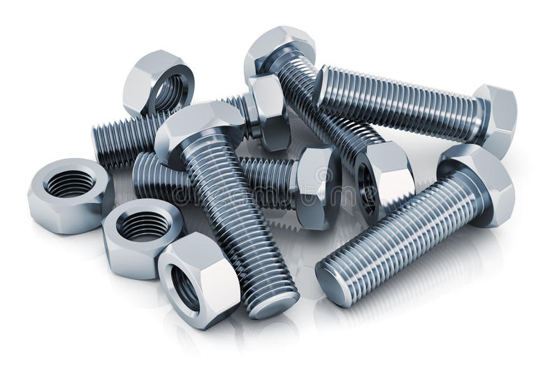 螺栓和螺母 向量例证