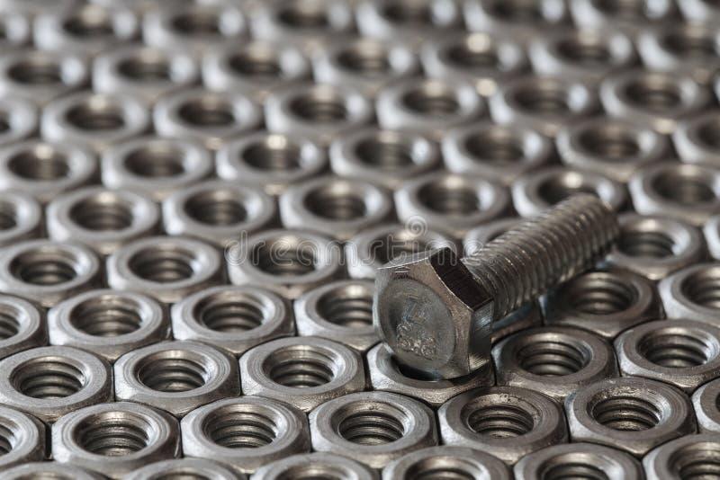 螺栓和螺母 免版税图库摄影