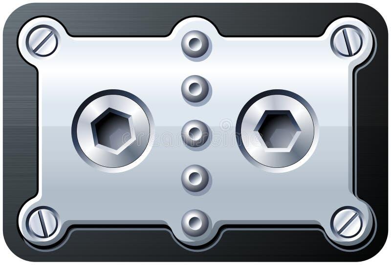 螺栓螺丝 向量例证