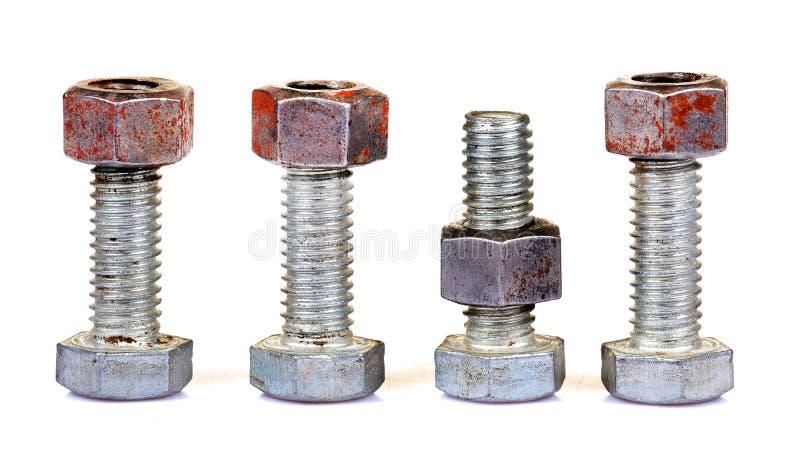 螺栓螺母 免版税库存图片