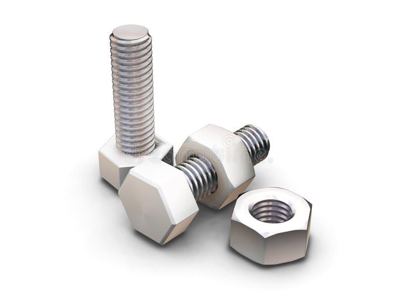 螺栓螺母 向量例证