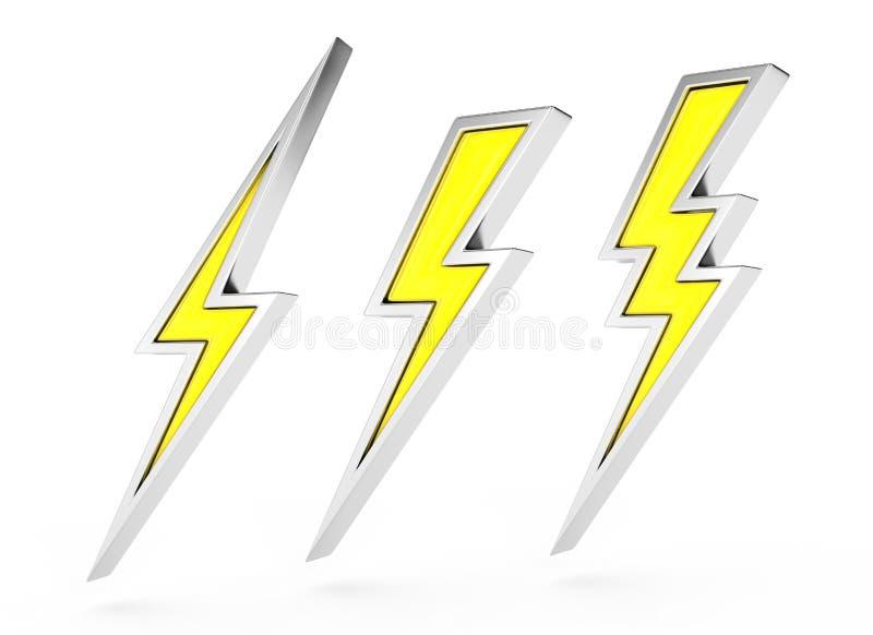 螺栓闪电符号 库存例证