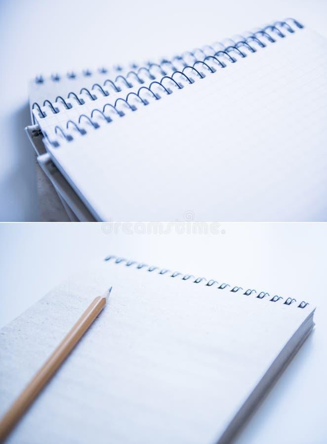 螺纹笔记本 库存照片