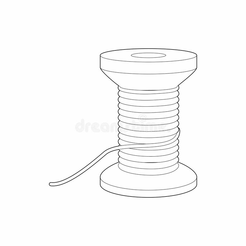 螺纹象,概述样式短管轴  库存例证