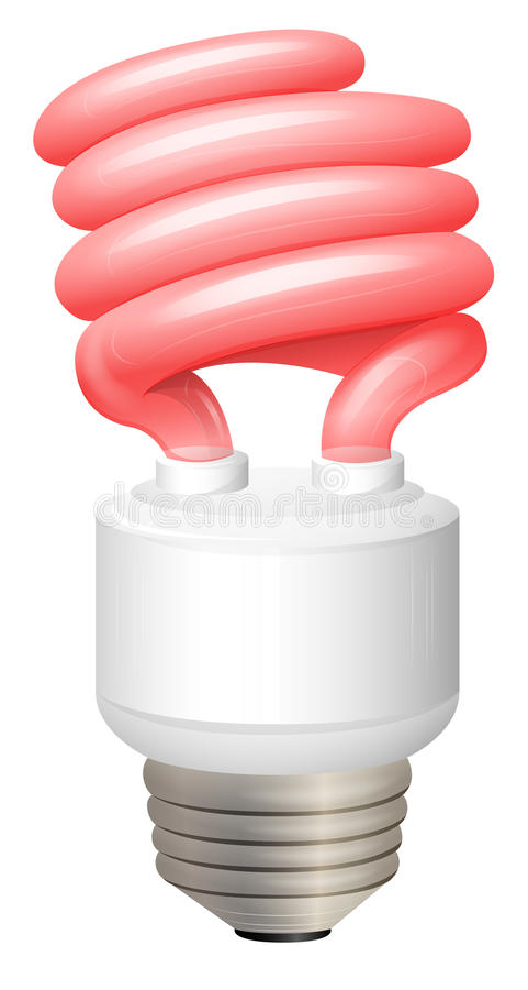 螺线联合CFL 向量例证