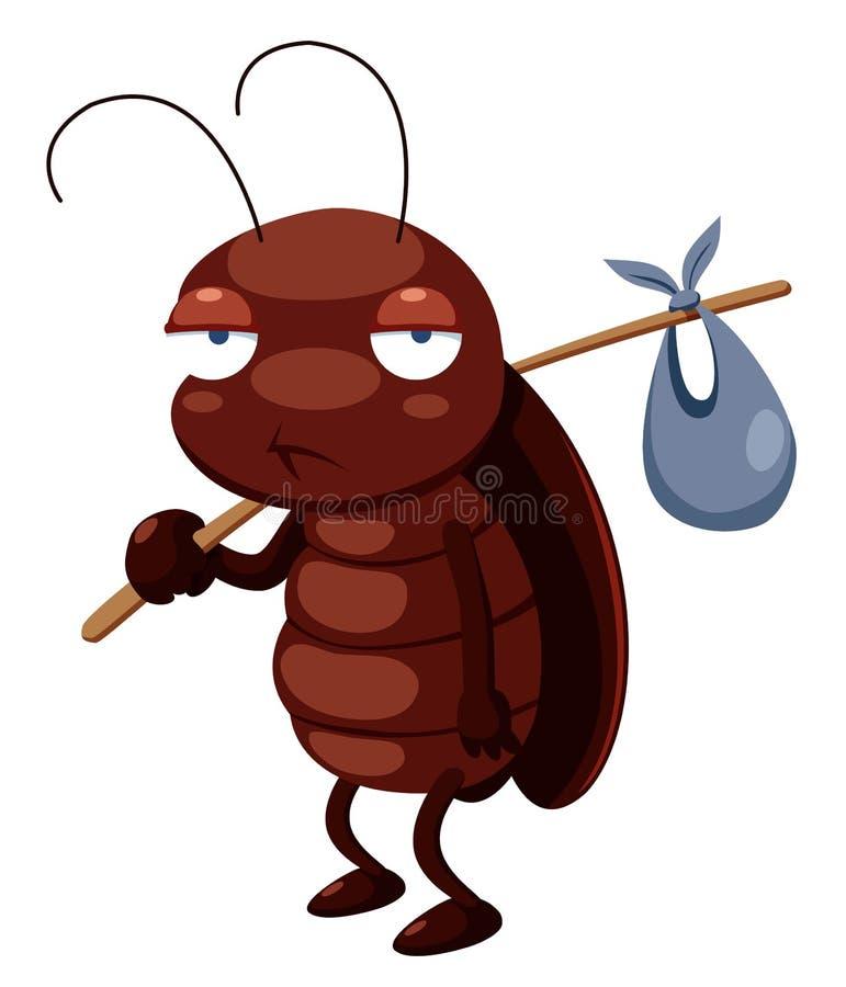 蟑螂动画片出去 皇族释放例证
