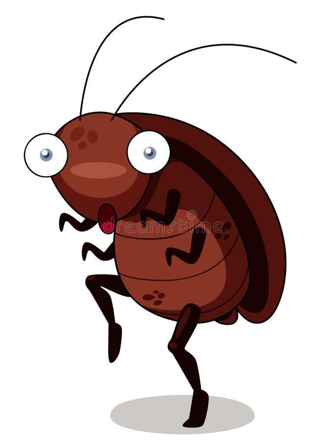 蟑螂动画片 皇族释放例证