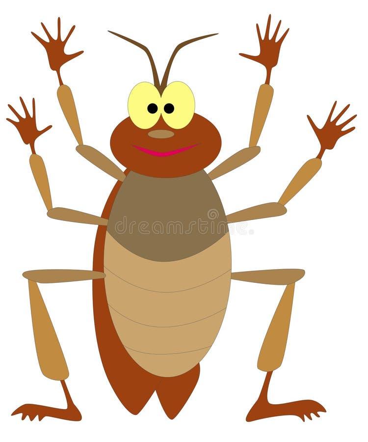 蟑螂 皇族释放例证