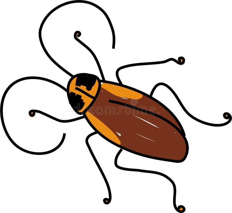 蟑螂 库存例证