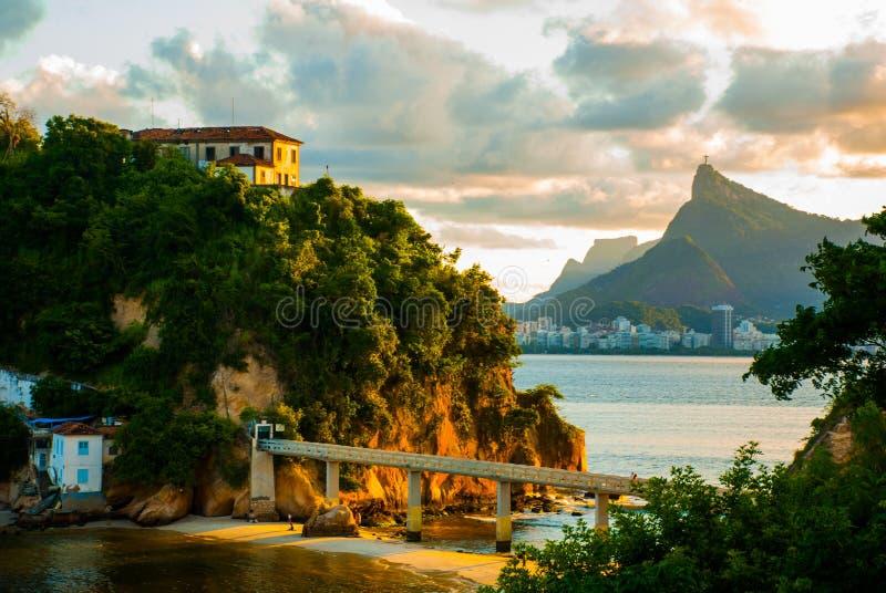 蟒蛇Viagem海岛,尼泰罗伊,里约热内卢,巴西状态  免版税库存照片