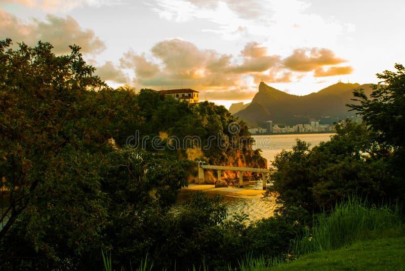 蟒蛇Viagem海岛,尼泰罗伊,里约热内卢,巴西状态  库存照片