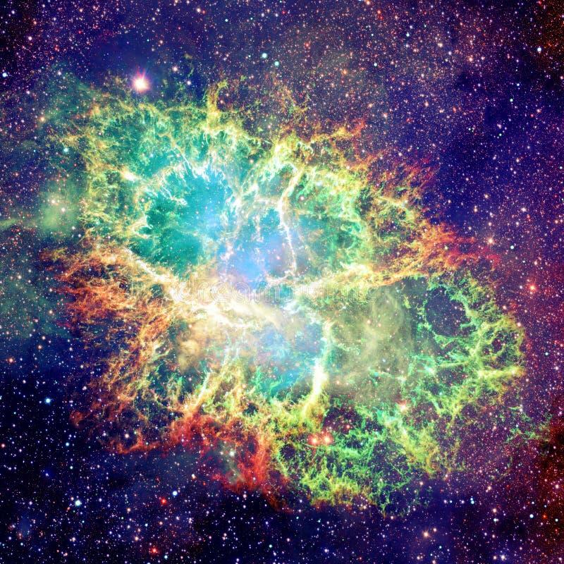 蟹状星云 美国航空航天局装备的这个图象的元素 库存图片