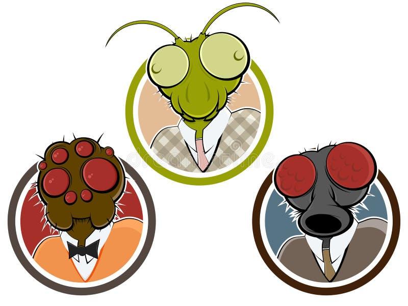 蠕动的昆虫或蜘蛛头 皇族释放例证